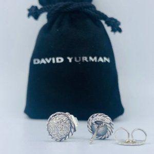 David Yurman Pave Diamond Chatelaine Earrings Stud